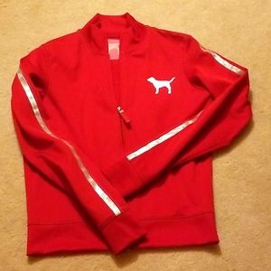 PINK Victoria secret red track jacket,  S